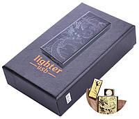USB  зажигалка в подарочной упаковке Дракон (Спираль накаливания) №HL-54 Black
