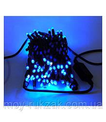 Уличная гирлянда светодиодная 100 ламп. 10 м. синяя