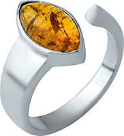 Серебряное кольцо SilverLine с янтарем (1916940) 18.5 размер