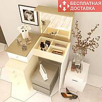 Туалетный столик «Amarant-3-2L» (800*1000*500 мм) | Бесплатная доставка НП