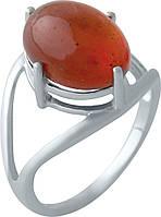 Серебряное кольцо SilverBreeze с янтарем (2007890) 17.5 размер
