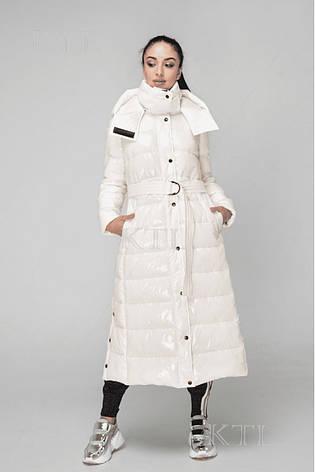 Зимняя женская длинная куртка KTL-363 из новой коллекции KATTALEYA жемчужного цвета, фото 2