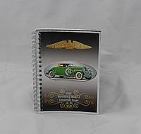 Блокнот серія Вінтаж Авто, А6, 70 арк, офсетний, клітинка, фото 1