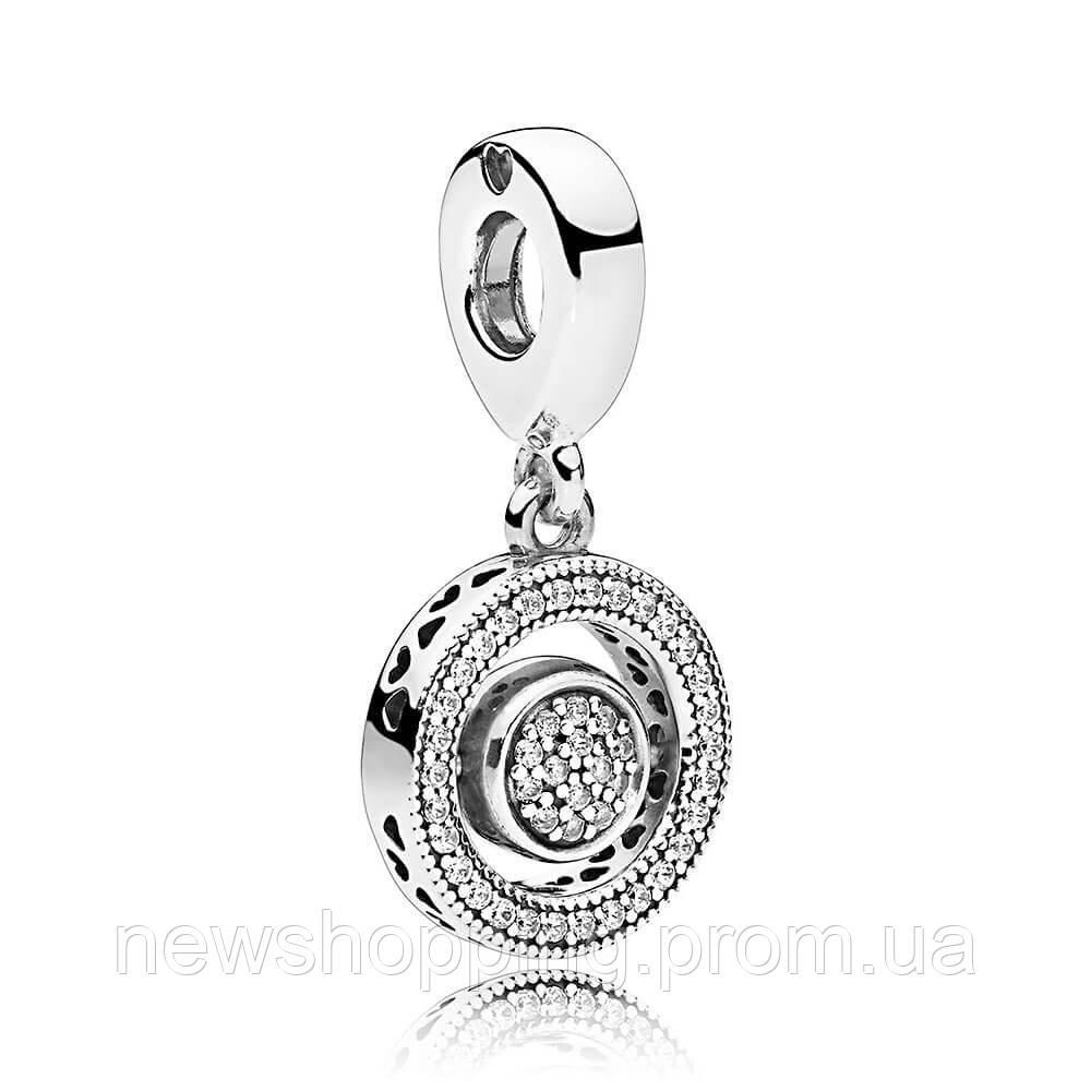Вращающаяся подвеска Логомания стиль Pandora серебро,