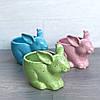 Цветочное кашпо Кролик Зайчик, голубой, фото 5
