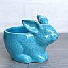 Цветочное кашпо Кролик Зайчик, голубой, фото 3