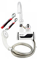Проточный водонагреватель с душем и экраном Delimano Pro (подключение сзади) набор ключей Snap n Grip