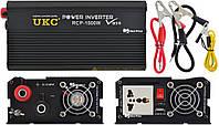 Профессиональный преобразователь инвертор Ukc 12V-220V RCP-1500W Usb Black (4145)