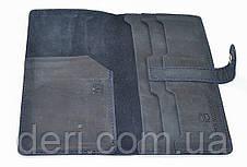 Тревел-кейс из натуральной кожи, темно-синий, фото 2