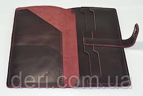 Кожаный тревел-кейс, бордовый, фото 3