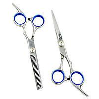 Набор парикмахерских ножниц 6.0 дюймов (прямые и филировочные) в блистере