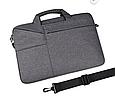 Сумка  для Macbook  Pro 15,4''/16'' - серый, фото 7