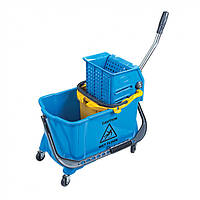 Тележка-Ведро для уборки на колесах 24 л с отжимом пластиковое HTS730