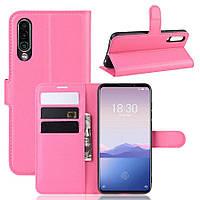 Чохол Luxury для Meizu 16Xs книжка рожевий, фото 1