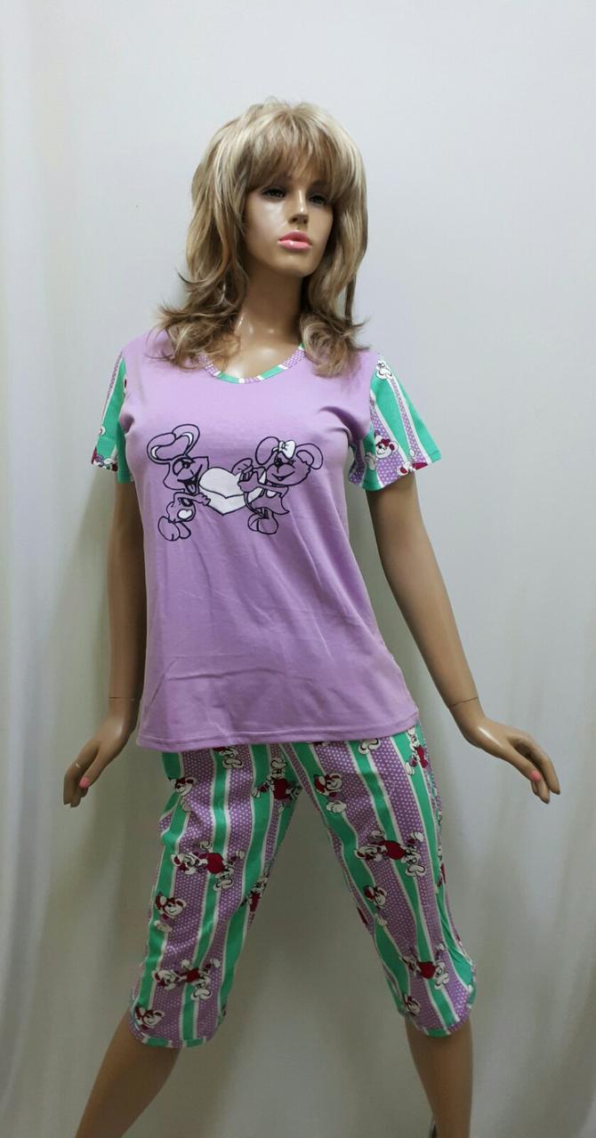Пижама женская с бриджами хлопок 260, фото 1