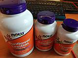 Лецитин Lecithin Now Foods 1200 мг 100 м'яких капсул, фото 2