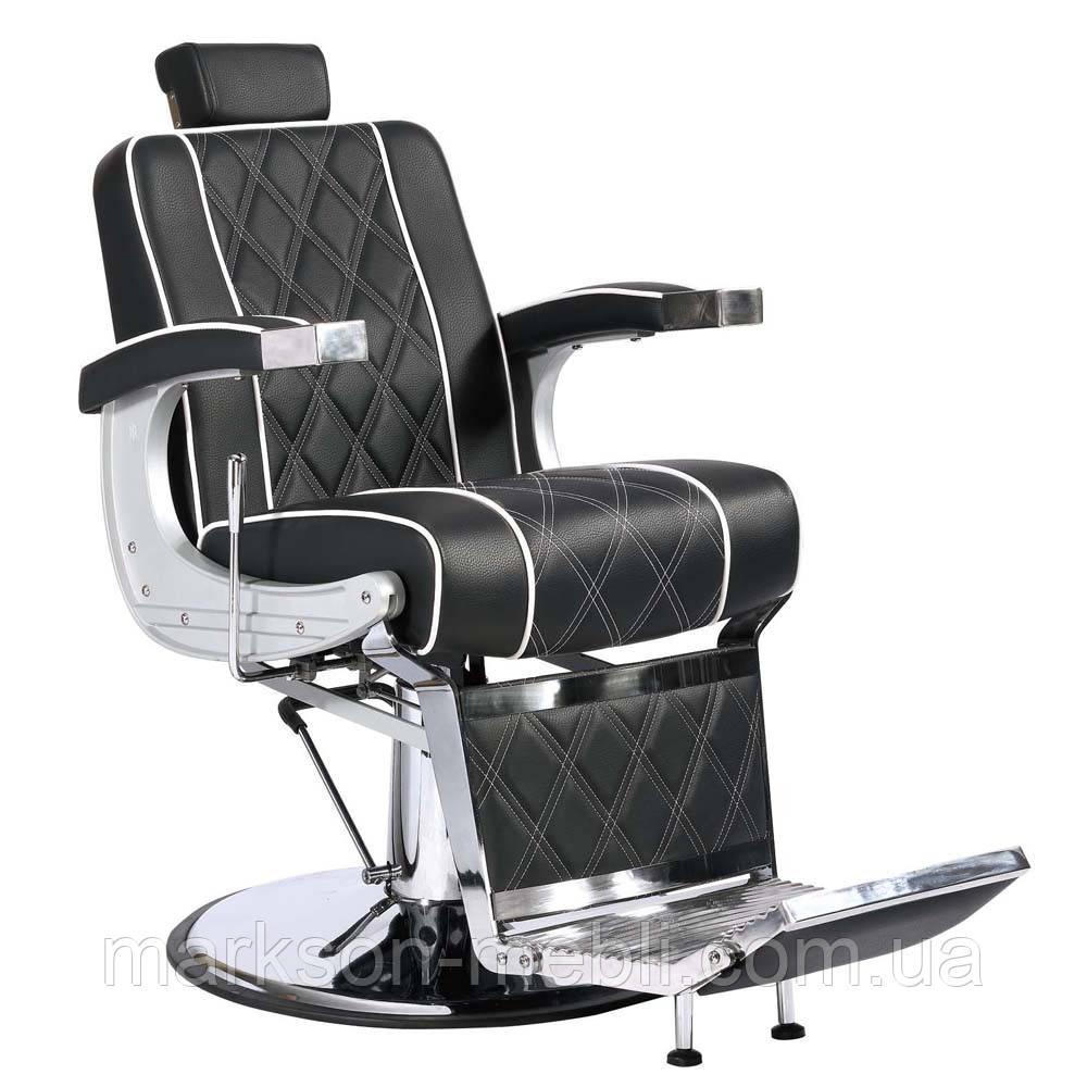 Кресло мужское VALENCIA LUX в черном/коричневом цвете