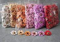 Головы цветов из фоамирана 4 см/ 100 шт