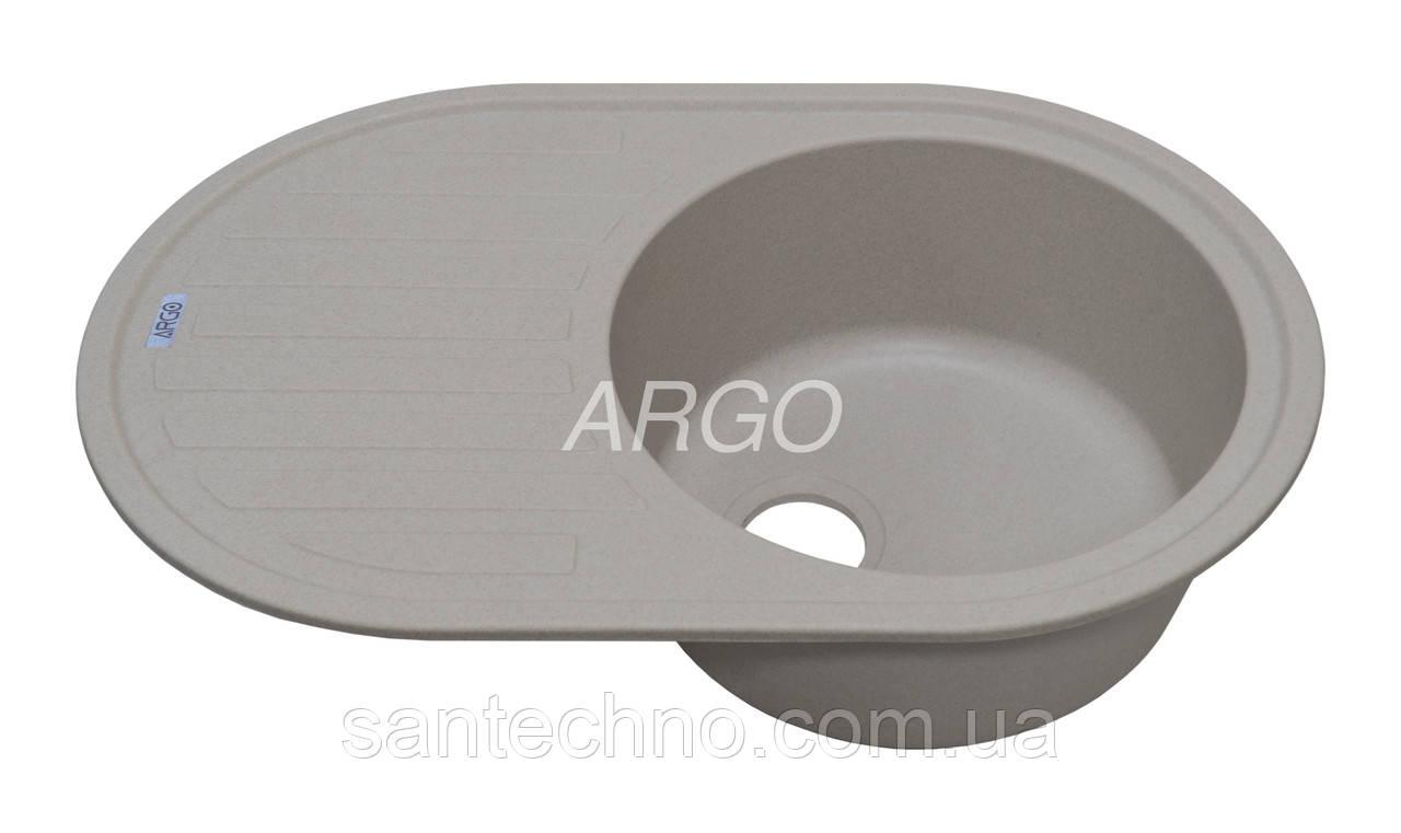 Гранитная мойка для кухни Argo Albero Avena 770*500*200