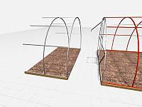 Дополнительная секция для алюминиевого каркаса,4х2м., фото 1