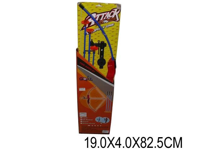 Лук со стрелами, лазер, на планш. 19х4х82 /36-2/
