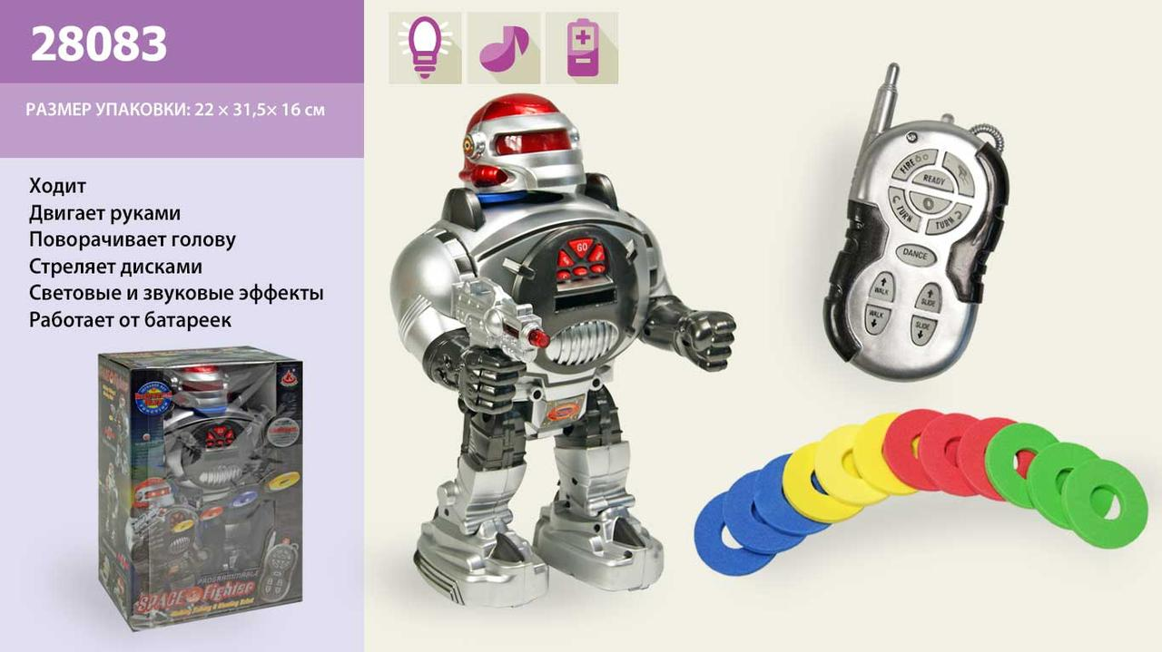 Р/У ИК Робот, ходит, говорит, стреляет дисками, танцует, батар., в кор. 21х14х32 /18/