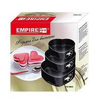 Набор форм для выпечки из 3шт сердечки Empire 9863 антипригарные