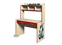 Стол в детскую комнату Молния Маквин «Тачки» Красный, Ваниль