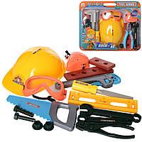 Набір інструментів 2043B1-B2 каска, окуляри, маска, плоскогубці, 2 види, лист, 31,5-38,5-8 см.