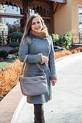 Женская кожаная сумка 46 капучино флотар 01460109