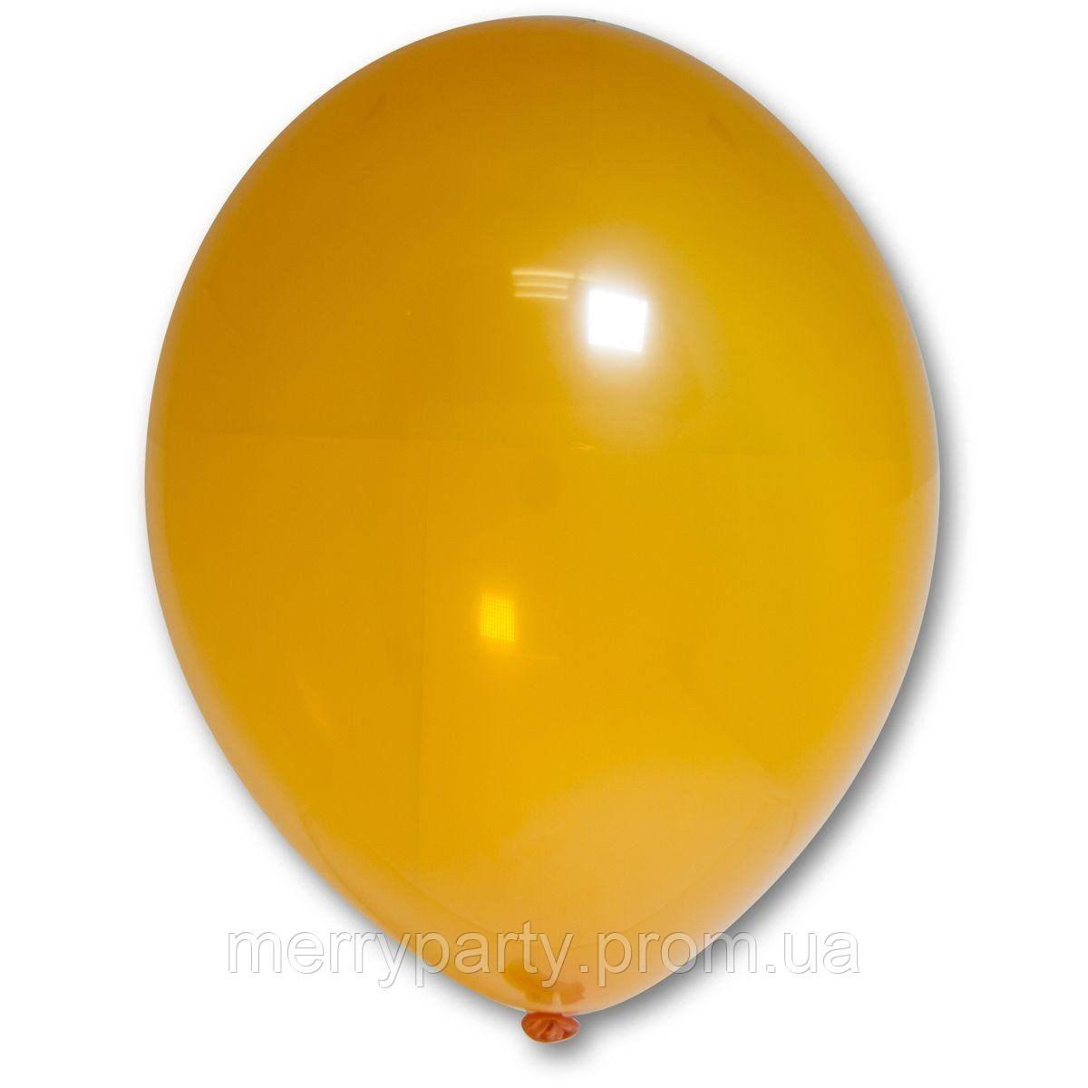 """12"""" (30 см) кристалл оранжевый 105/037К Belbal Бельгия латексный шар"""