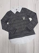 Подростковая кофта обманка для девочки р.134-158 опт
