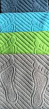 Коврик-полотенце для ног бирюзовый 50х70, фото 3