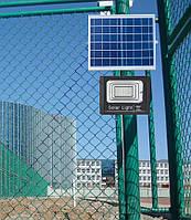 Прожектор на сонячній батареї, 25W\ IP67. Пульт, таймер. 70м²