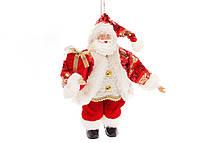 Новогодняя декоративная фигура-подвеска Санта 25,5 см Красный