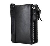 Кошелек портмоне мужской кожаный Contact (черный)