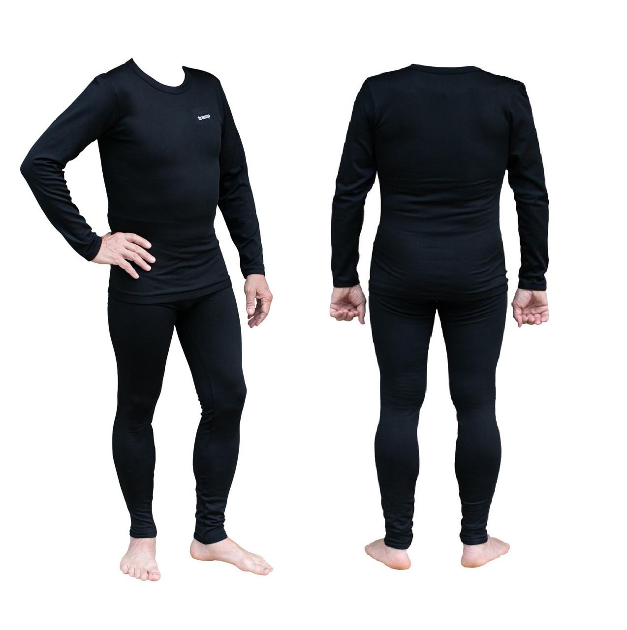 Термобілизна чоловіча Tramp Warm Soft чорний комплект (футболка + кальсони) TRUM-019 чорний