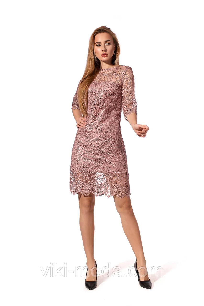 Элегантное женское платье из изысканного гипюра, р.42