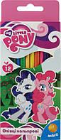 Карандаши kite lp15-053k my little pony цветные трехгранные 12 шт.