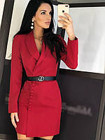 Платье-пиджак Мишель красное с-м