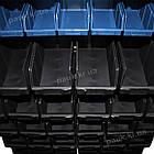 Двосторонній стелаж Н1500 мм 108 ящиків, з ящиками під метизи В/С, фото 6