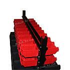 Двосторонній стелаж Н1500 мм 108 ящиків, з ящиками під метизи В/С, фото 9