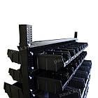 Двосторонній стелаж Н1500 мм 108 ящиків, з ящиками під метизи В/С, фото 8
