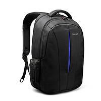 Рюкзак мужской Tigernu городской спортивный с ортопедической спинкой, отделом для ноутбука + ЗАМОК  (черный)