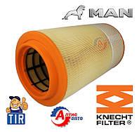 Фильтр воздушный Ман для грузовиков Man Tga, Tgs, Tgx производитель Knecht-Mahle