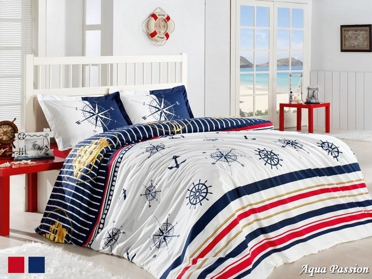 Комплект постельного белья First Choice Ранфорс 200x220 Aqua Passion