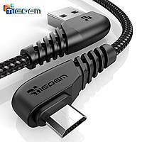 Кабель угловой 90 градусов Tiegem USB - Micro USB Black, 1 метр