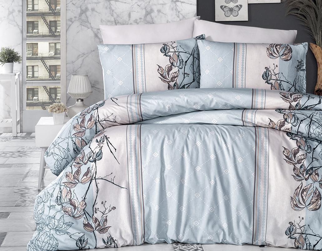 Комплект постельного белья First Choice Ранфорс 200x220 Arnica Mint