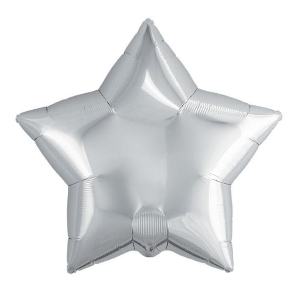 Фольгированный шар звезда серебро 50 см, Агура (Agura)