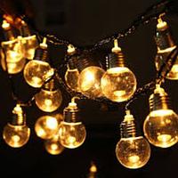 Гирлянда Уличная Лампочки LED 40 Теплый белый, 650 см, черный провод, переходник (1363-07)
